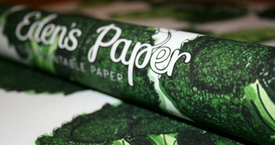 papier cadeau à planter1