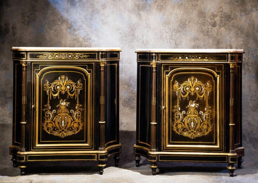 peindre meuble en bois buffet napoleon iii