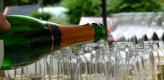 flûte à champagne.